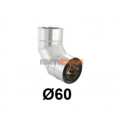 Kolano 87° powietrze-spaliny 60-100 mm