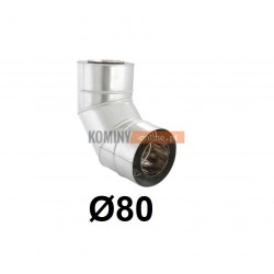 Kolano 87° powietrze-spaliny 80-125 mm