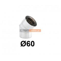 Kolano 45° powietrze-spaliny 60-100 mm