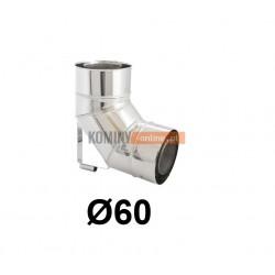Kolano ze wspornikiem 87° powietrze-spaliny 60-100 mm