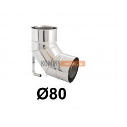 Kolano ze wspornikiem 87° powietrze-spaliny 80-125 mm