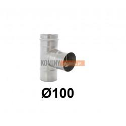 Trójnik 87° spalinowy z uszczelką 100 mm