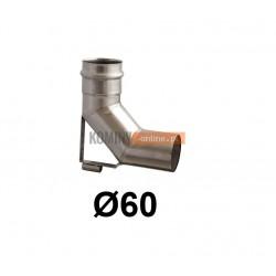 Kolano spalinowe ze wspornikiem 60 mm