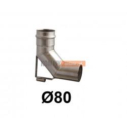 Kolano spalinowe ze wspornikiem 80 mm