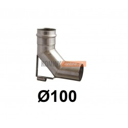 Kolano spalinowe ze wspornikiem 100 mm