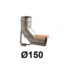 Kolano spalinowe ze wspornikiem 150 mm
