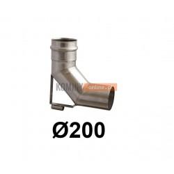 Kolano spalinowe ze wspornikiem 200 mm