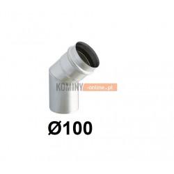 Kolano 45° spalinowe z uszczelką 100 mm