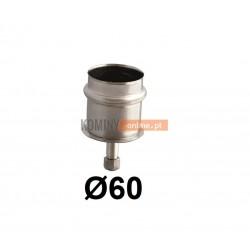 Zaślepka spalinowa z odpływem 60 mm