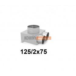 Skrzynka rozdzielcza 125-2x75 mm