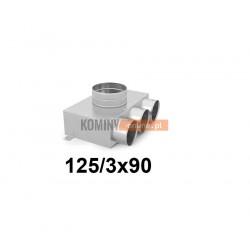 Skrzynka rozdzielcza 125-3x90 mm