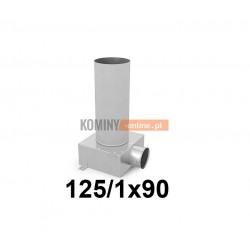Skrzynka rozprężna długa 125-1x90 mm