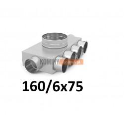 Skrzynka rozdzielcza 160-6x75 mm