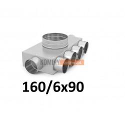 Skrzynka rozdzielcza 160-6x90 mm