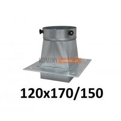 Podstawa komina-redukcja 120x170/150 mm OCYNK