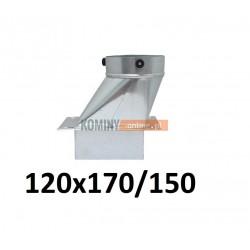 Podstawa komina skośna 120x170/150 mm OCYNK