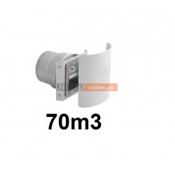 Stabiler wentylacji kwadratowy 70m3/h z osłoną