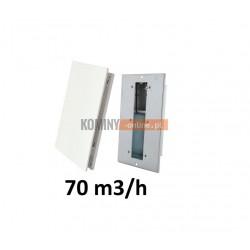 Nowoczesny stabilizator wentylacji prostokątny 70 m3/h
