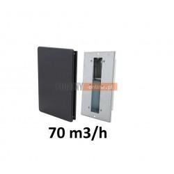 Nowoczesny stabilizator wentylacji prostokątny 70 m3/h czarny