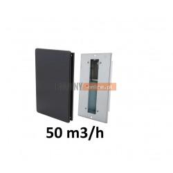 Nowoczesny stabilizator wentylacji prostokątny 50 m3/h czarny