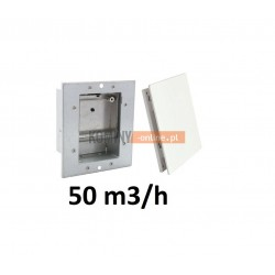 Nowoczesny stabilizator wentylacji kwadratowy 50 m3/h