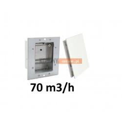 Nowoczesny stabilizator wentylacji kwadratowy 70 m3/h