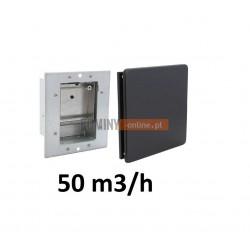 Nowoczesny stabilizator wentylacji kwadratowy 50 m3/h  czarny