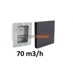 Stabilizator wentylacji 70m3/h osłona nowoczesna CZARNA