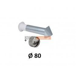 Nawietrzak ścienny 80 mm ze stabilizatorem czerpnia ocynk