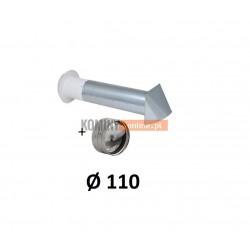 Nawietrzak ścienny 110 mm ze stabilizatorem czerpnia ocynk
