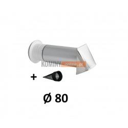 Nawietrzak ścienny antysmogowy 80 czerpnia nierdzewna