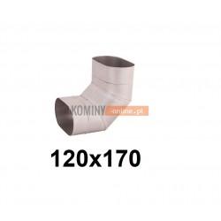 Kolano owalne 120x170 mm / ∡ 90°
