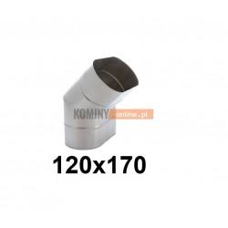 Kolano owalne 120x170 mm ∡ 45°