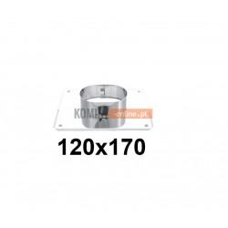 Płyta na komin owalna 120x170 mm