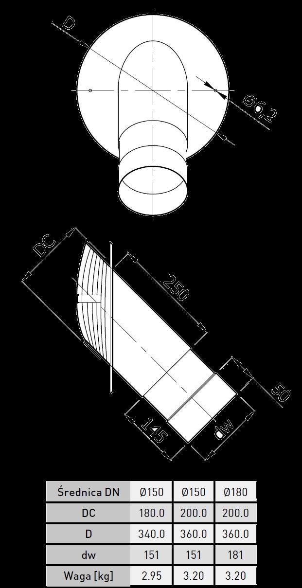 wkładka komina ceramicznego