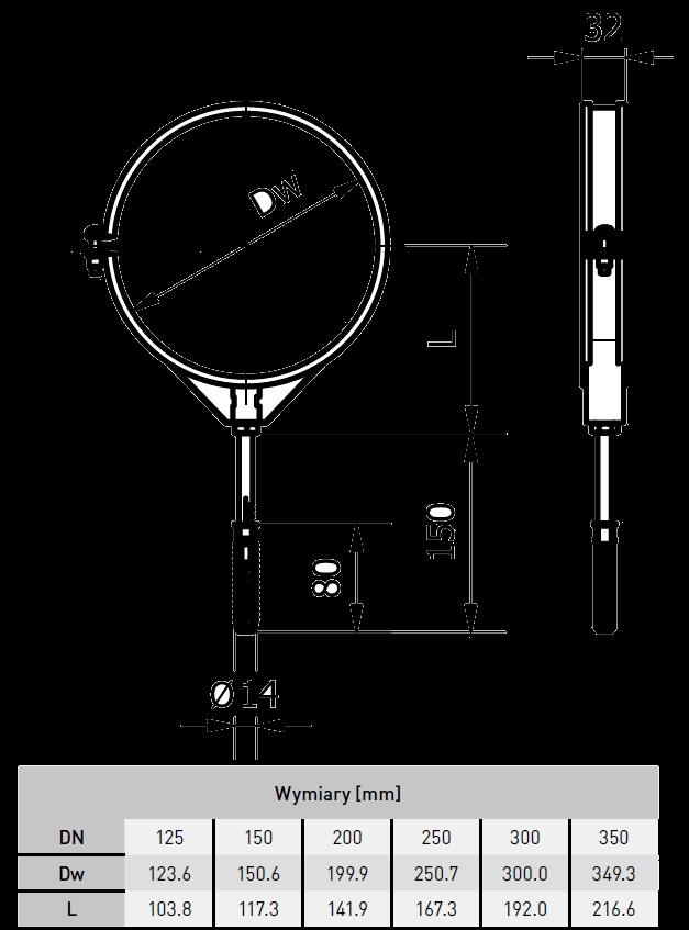 uchwyt montażowy z gumą