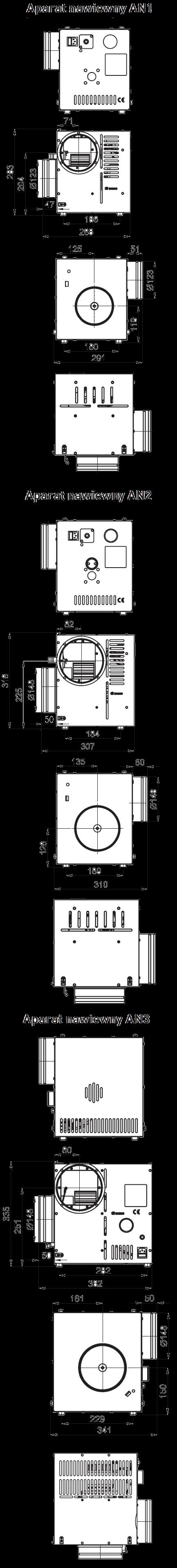 Turbina kominkowa - aparat nawiewny