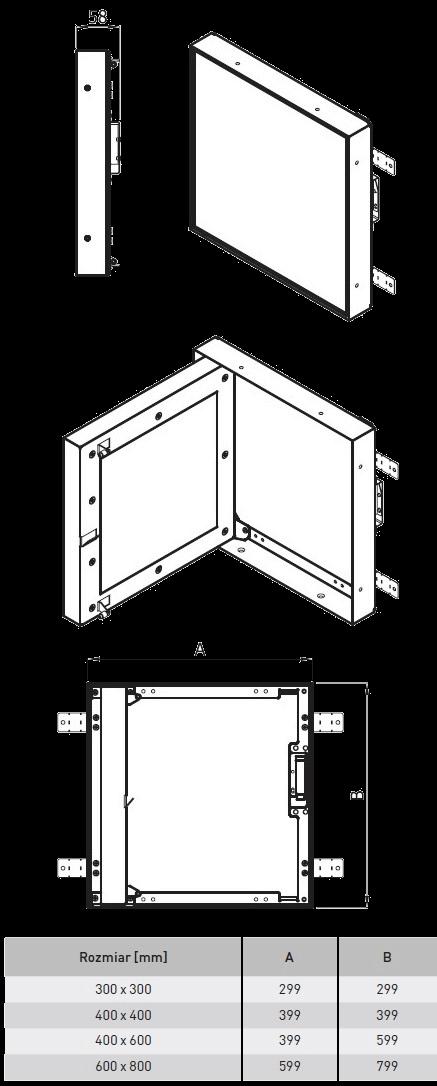 drzwiczki rewizyjne izolowane