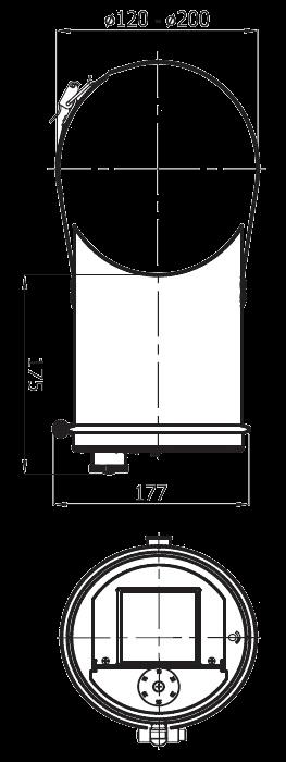 regulator ciągu komina na rurę