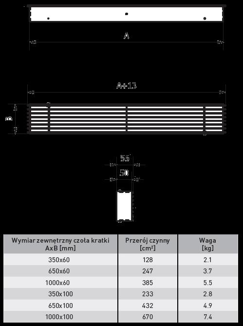 kratka luft z żaluzją loft ventlab biała
